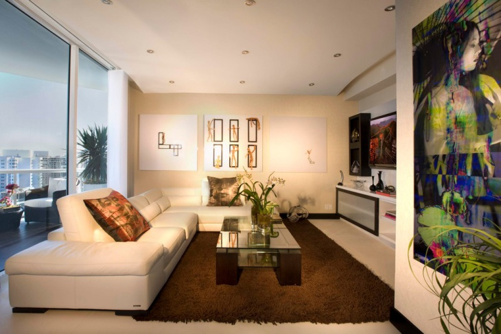 White Living Room Wall Mural