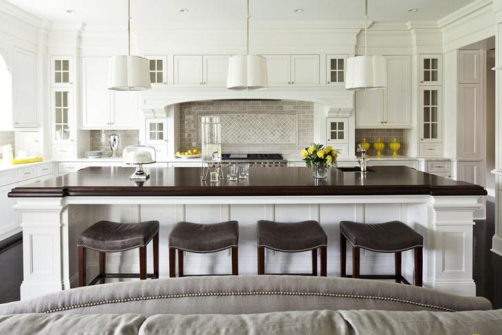 Classy White Kitchen Decor