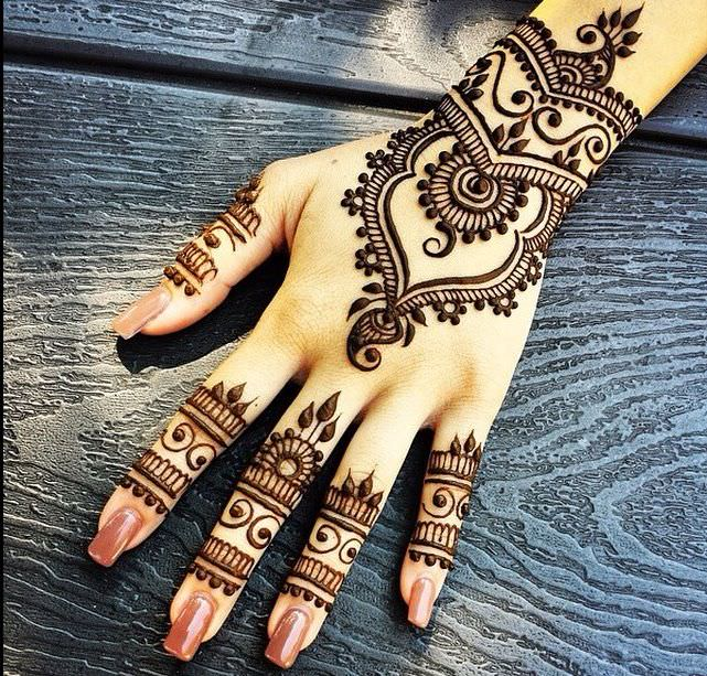 Love Shape Mehandi Designs