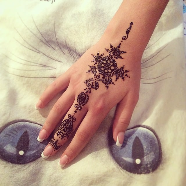 Black Mehandi Designs