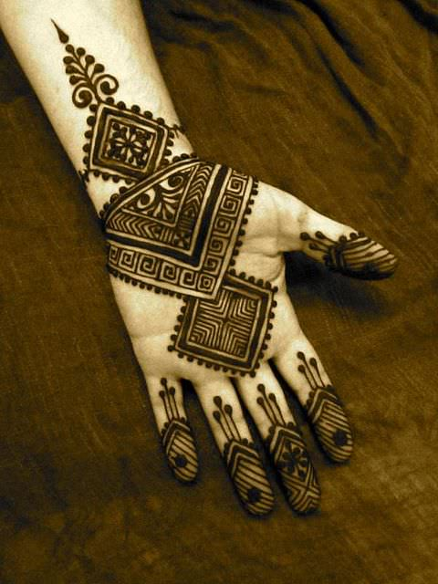 fusion henna mehandi designs