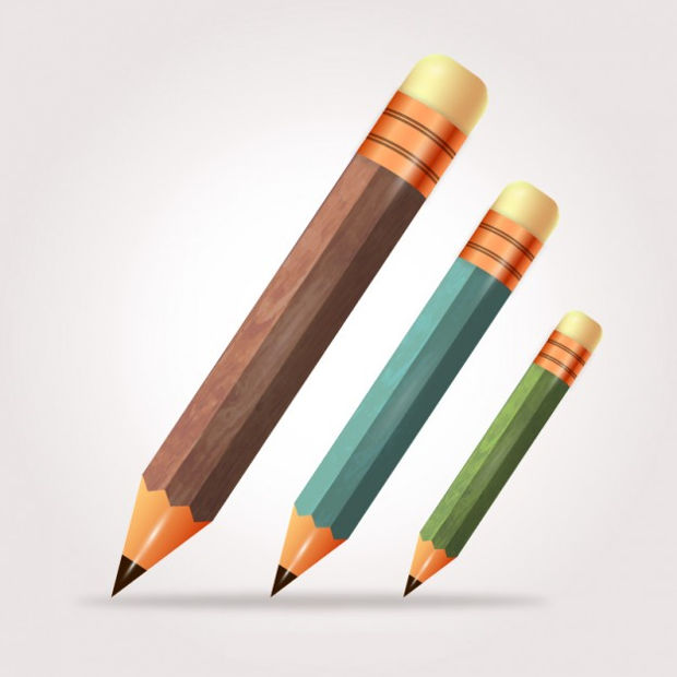 Wooden Pencil Vector