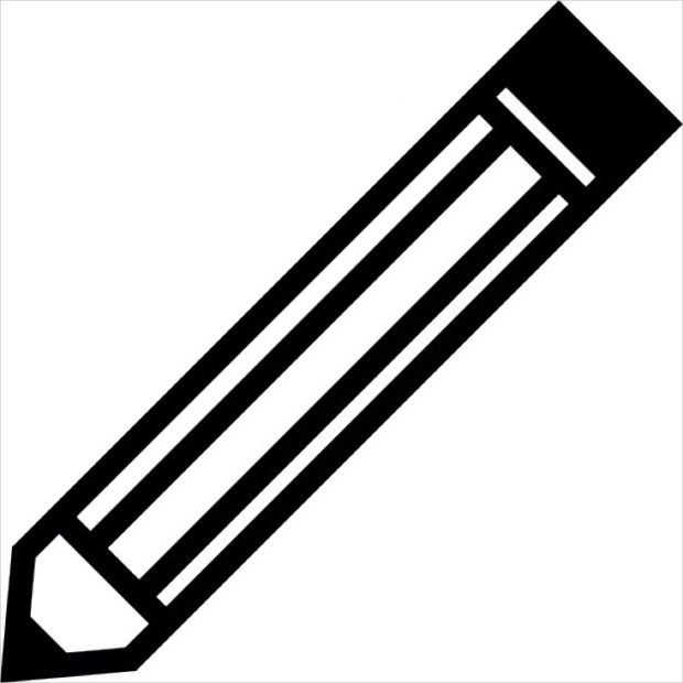 pencil outline vector