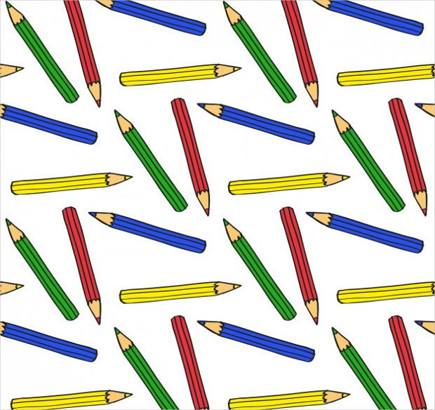 Color Pencils Seamless Vector