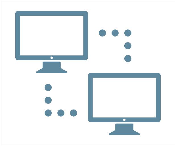computer communication icon