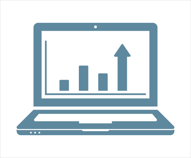 Analytics Computer Icon