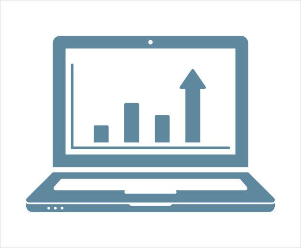analytics computer icon