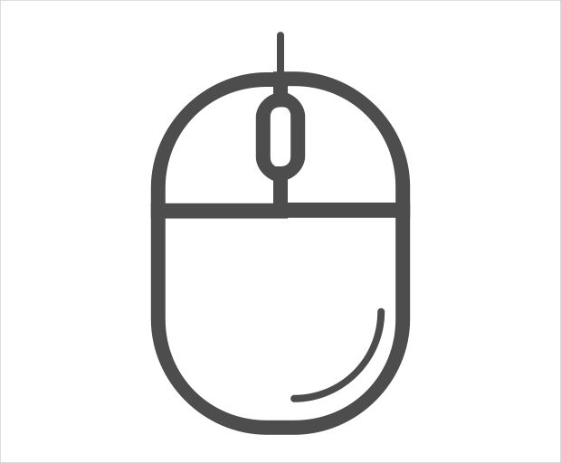 Simple Computer Mouse Icon