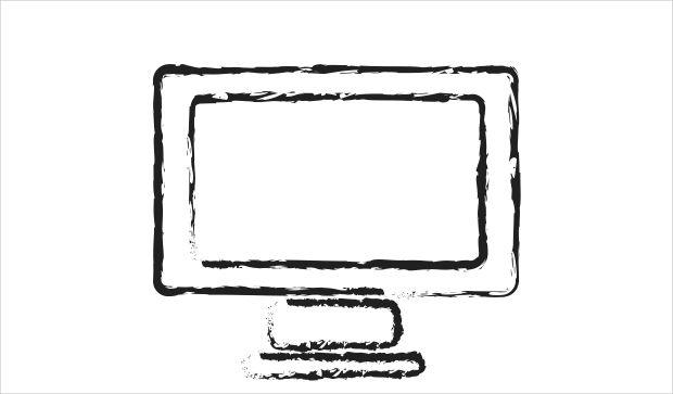 Sketchy Computer Icon