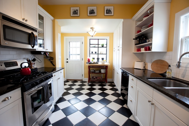 Comtemporary Kitchen Floor Tiles Idea