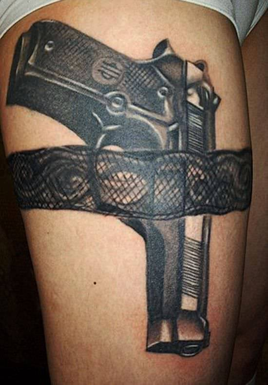 AweSome Gun Tattoo Designs