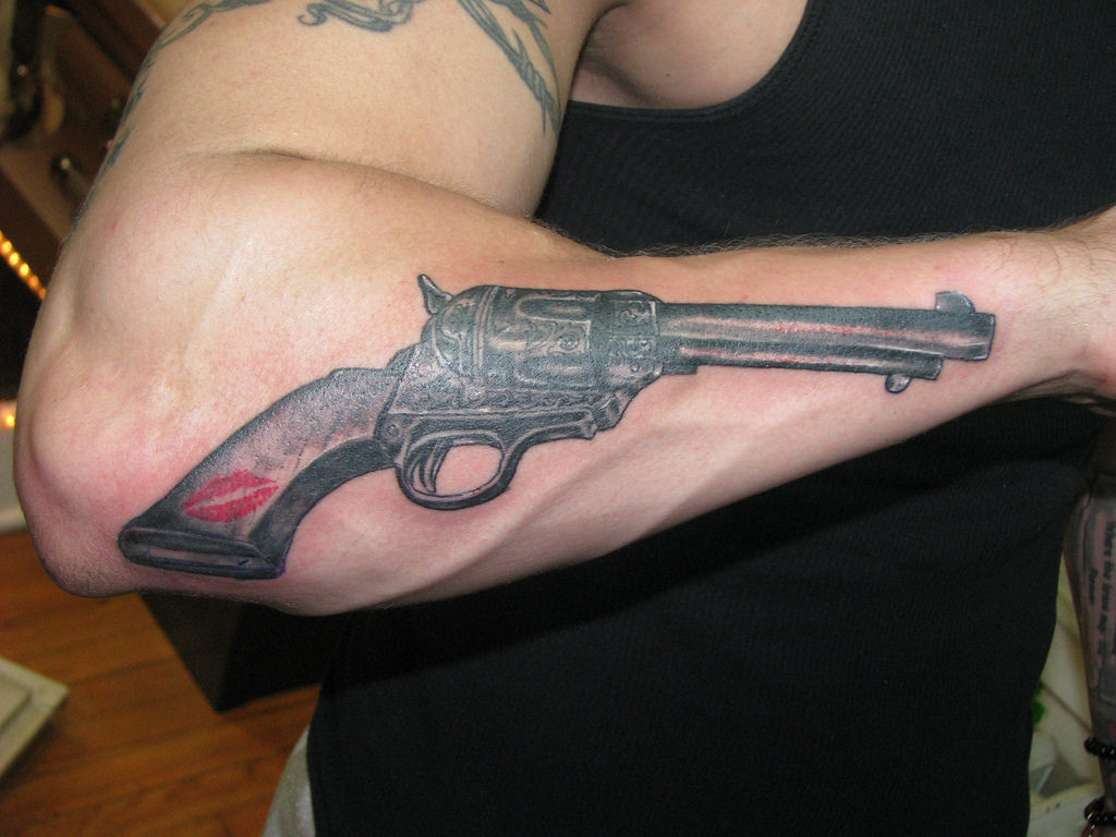 Fast Lane Gun Tattoo Designs
