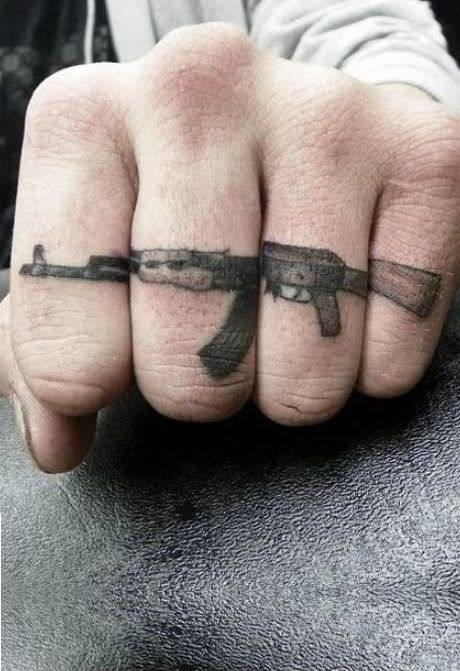Finger Gun Tattoo Designs