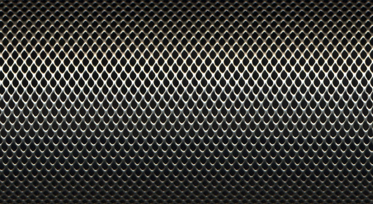 Black Steel Grid Texture
