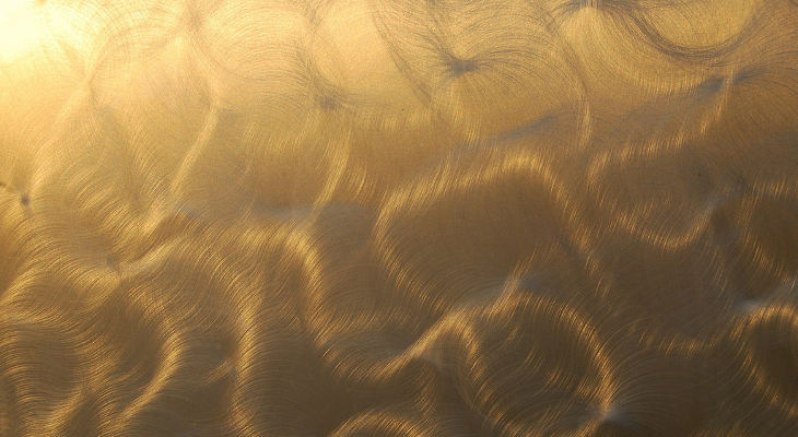 Gold Polished Steel Texture