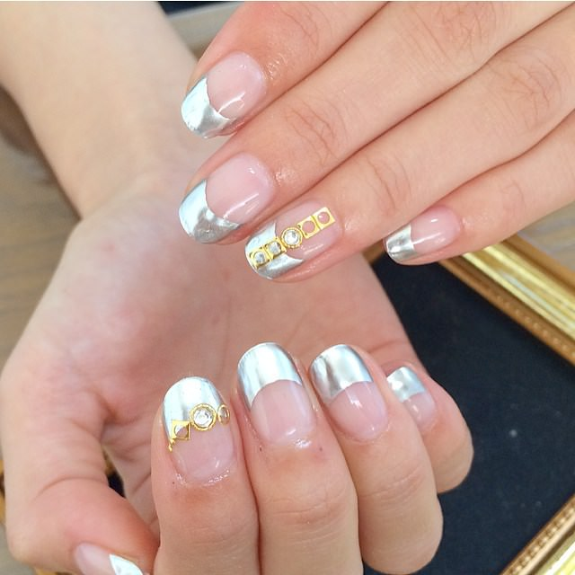 Sliver Summer Nail Design