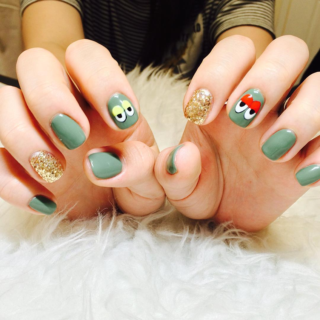 Cute Art Summer Nail Design