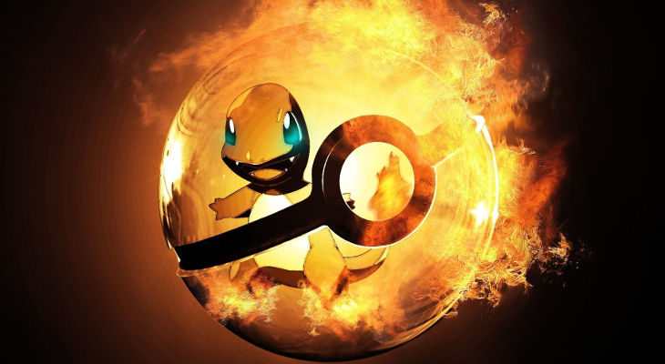 Charmander in Pokeball Background