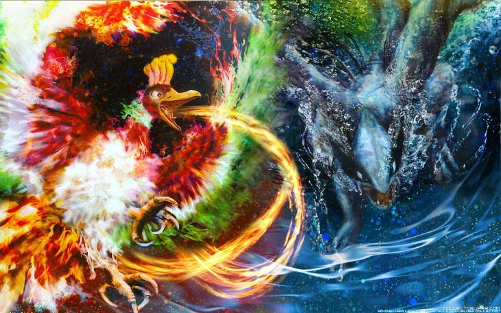 Fire and Water Pokemon Picture