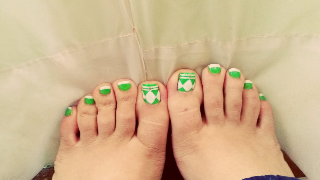 Power Toe Nail Design