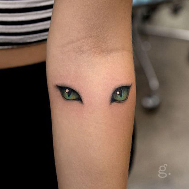 Cat Eye Tattoo Design