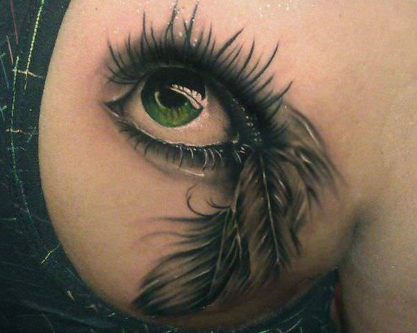Realistic Eye Tattoo Design