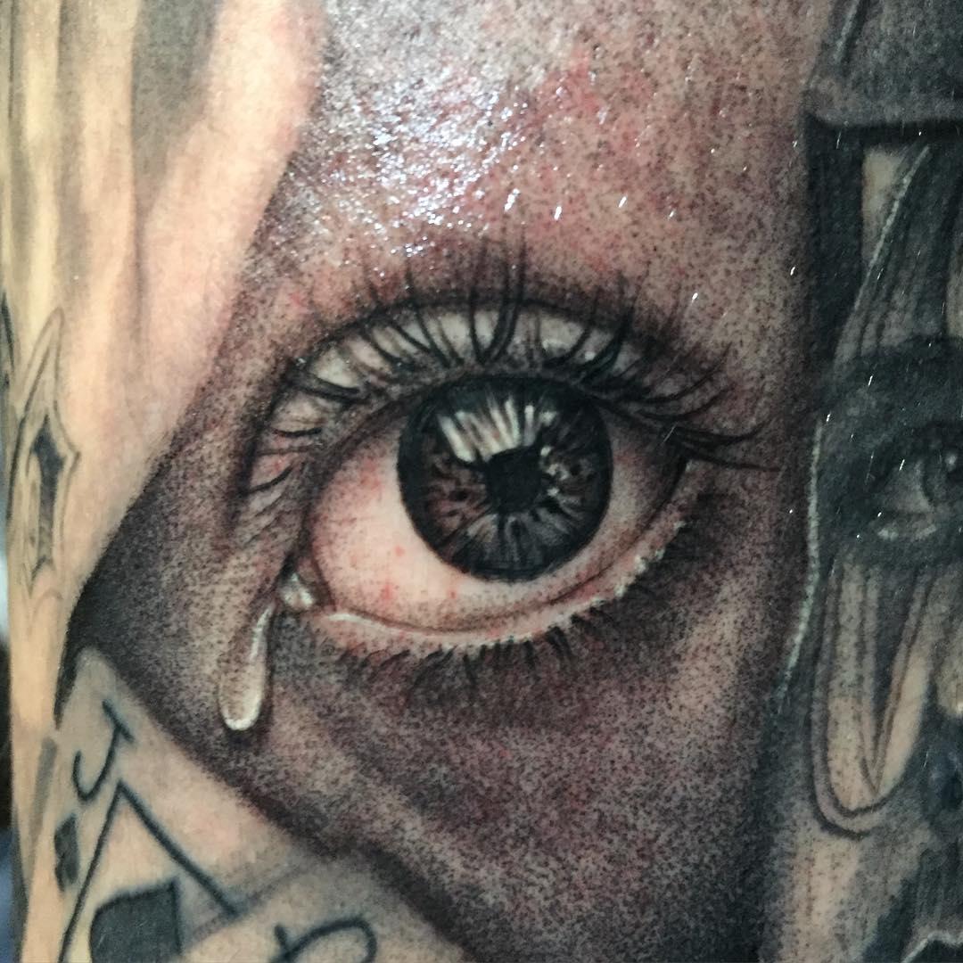 Swan Eye Tattoo Design