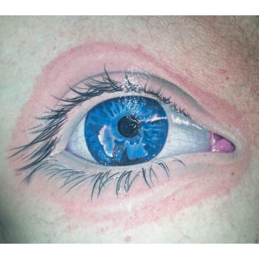 Chest Eye Tattoo Design