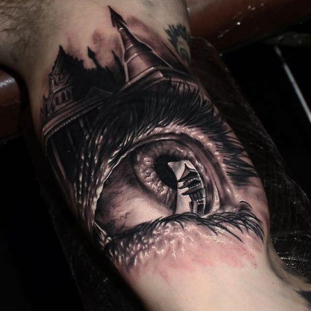 Creepy Eye Tattoo Design