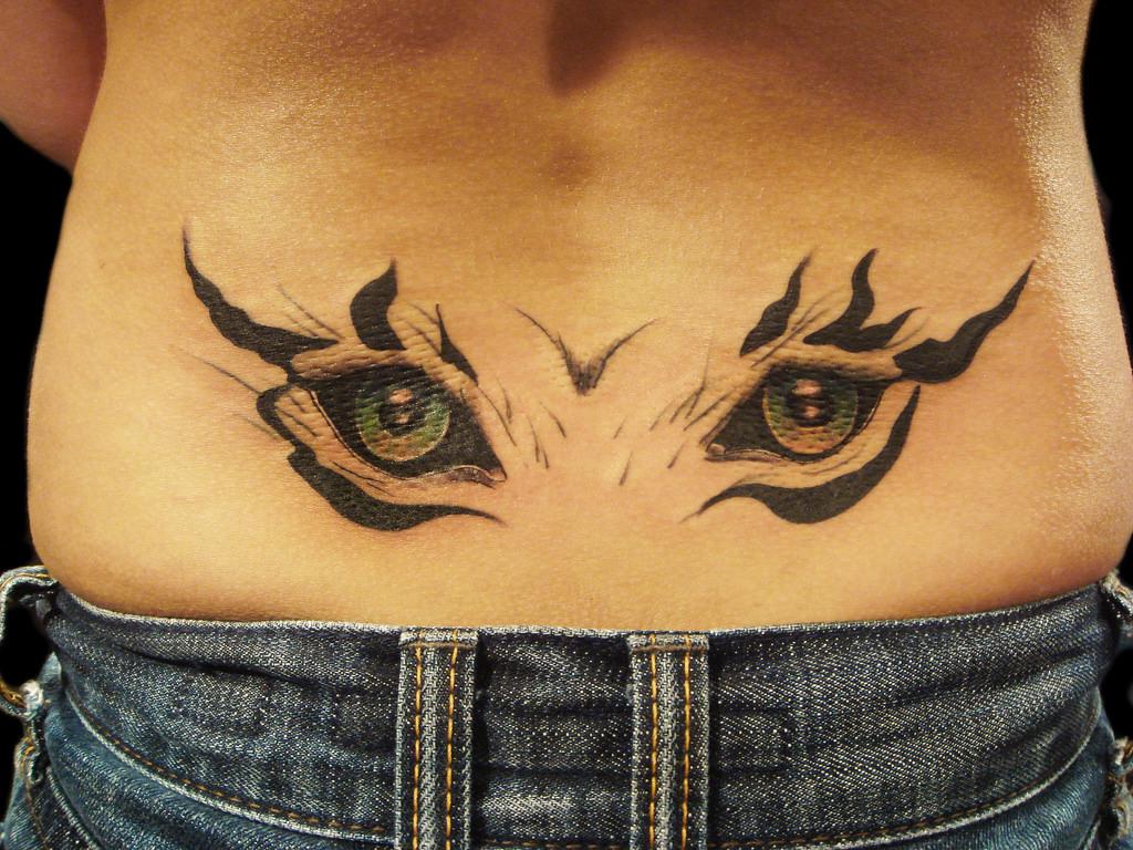 Angle Eye Tattoo Design