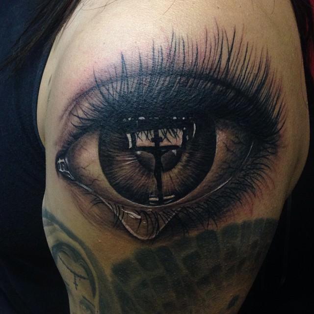 Believing Eye Tattoo Design