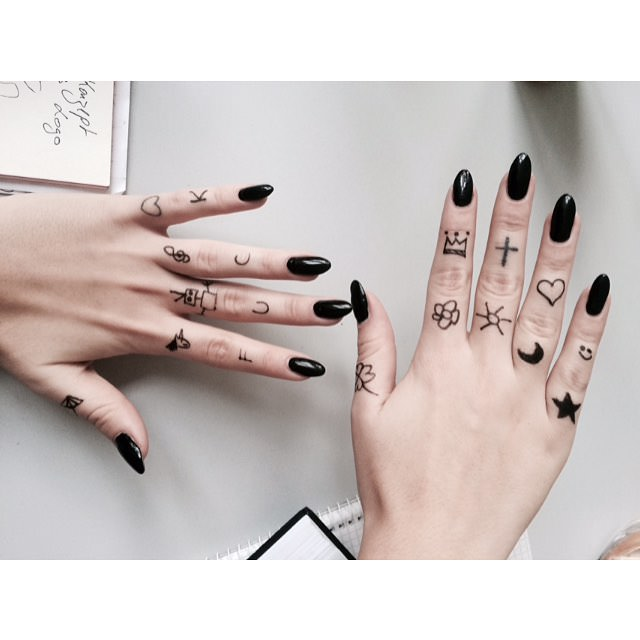 Lovely Black Nail Design