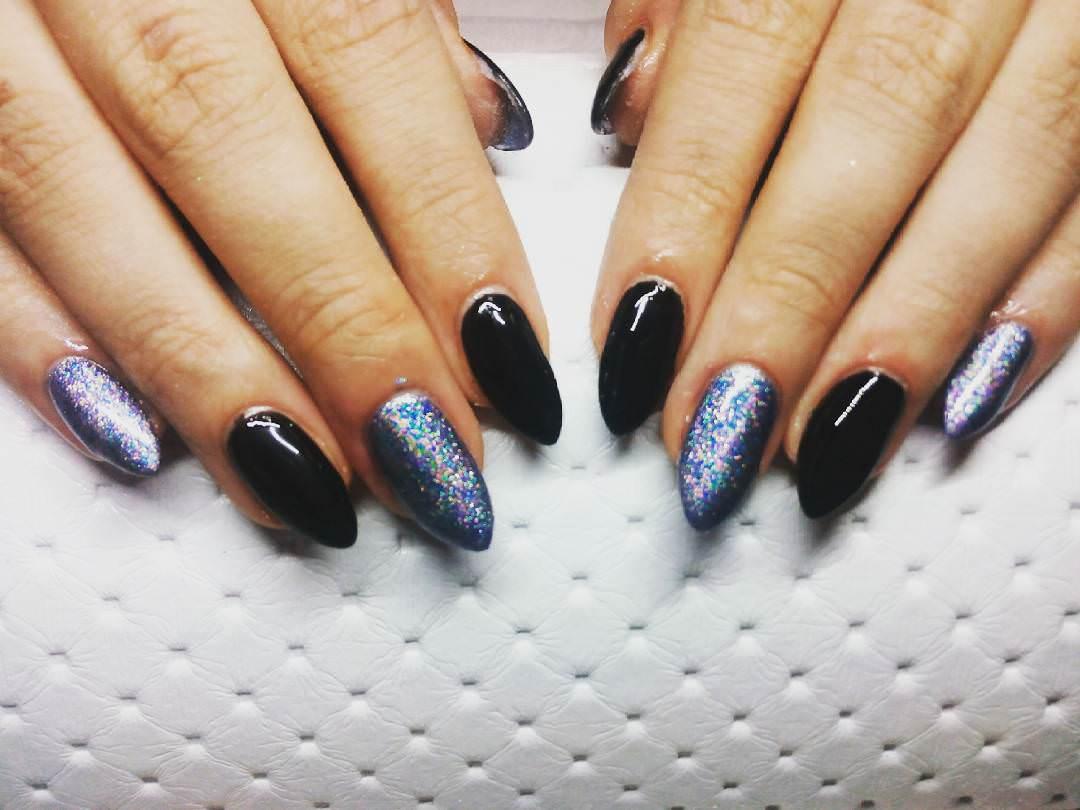 Inspire Black Nail Design