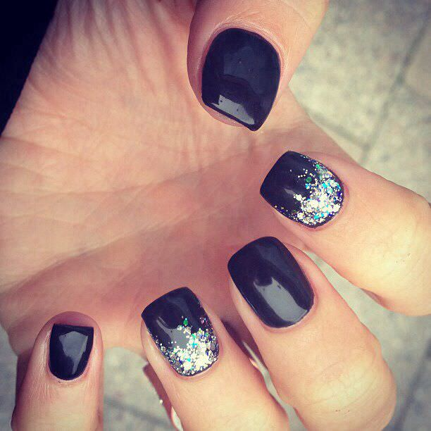 Feature Black Nail Design