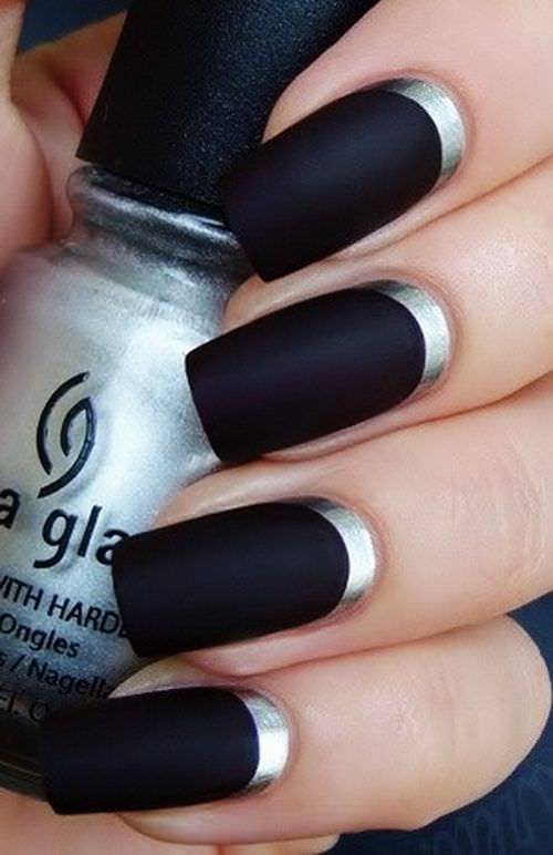 Chocolate Black Nail Design