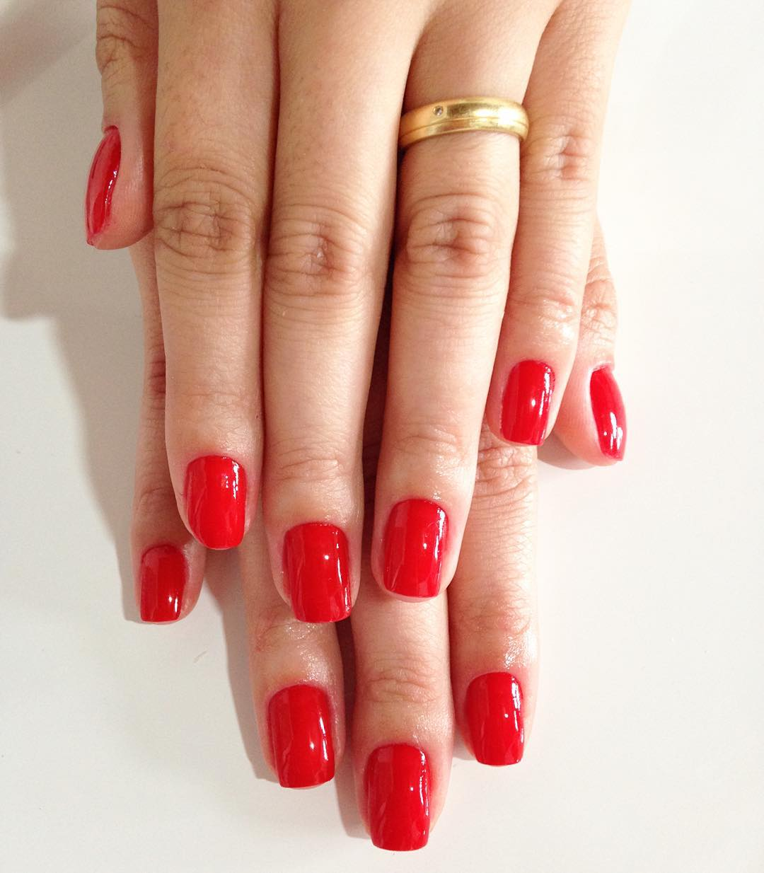 Pure Red Nail Design