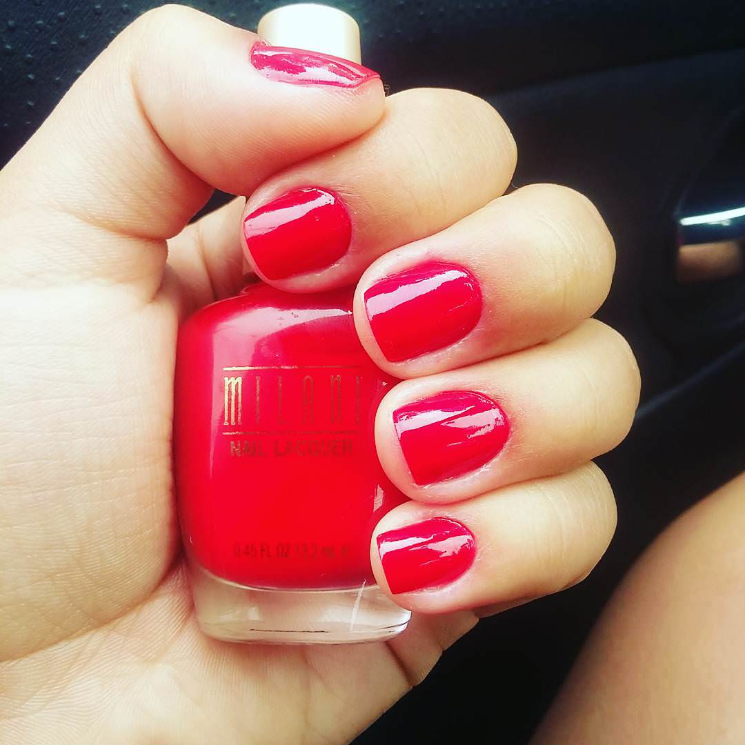 Cosmetics Red Nail Design
