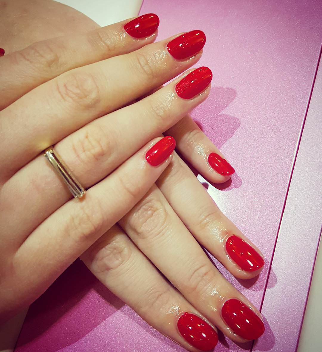 artist red nail design