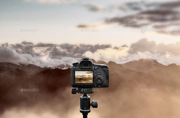 Realistic Sharp Camera Mockup Ideas