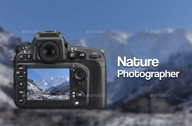 Nature Photographer Camera Mockup