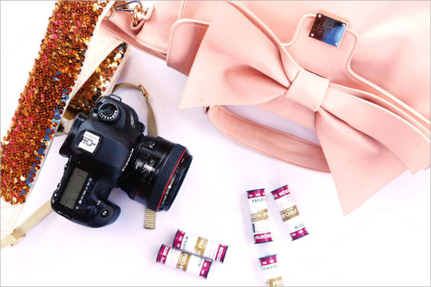 Girly Camera Mockup Design