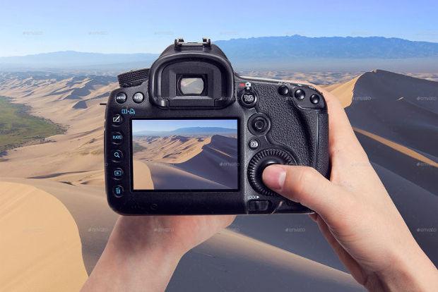 High Quality Camera Mockup