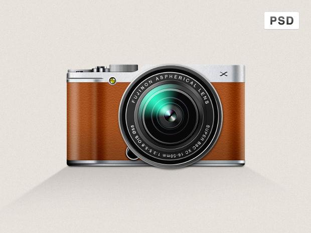 Fuji Film Camera Mockup