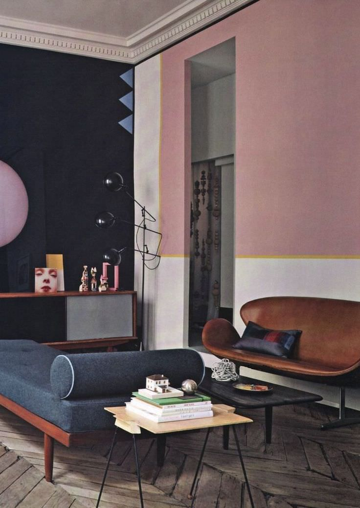 Interior Of Drawing Room: 31+ Retro Wall Paint Designs