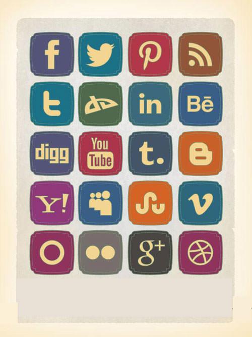 Social Media Buttons,Facebook Buttons<Twitter Buttons