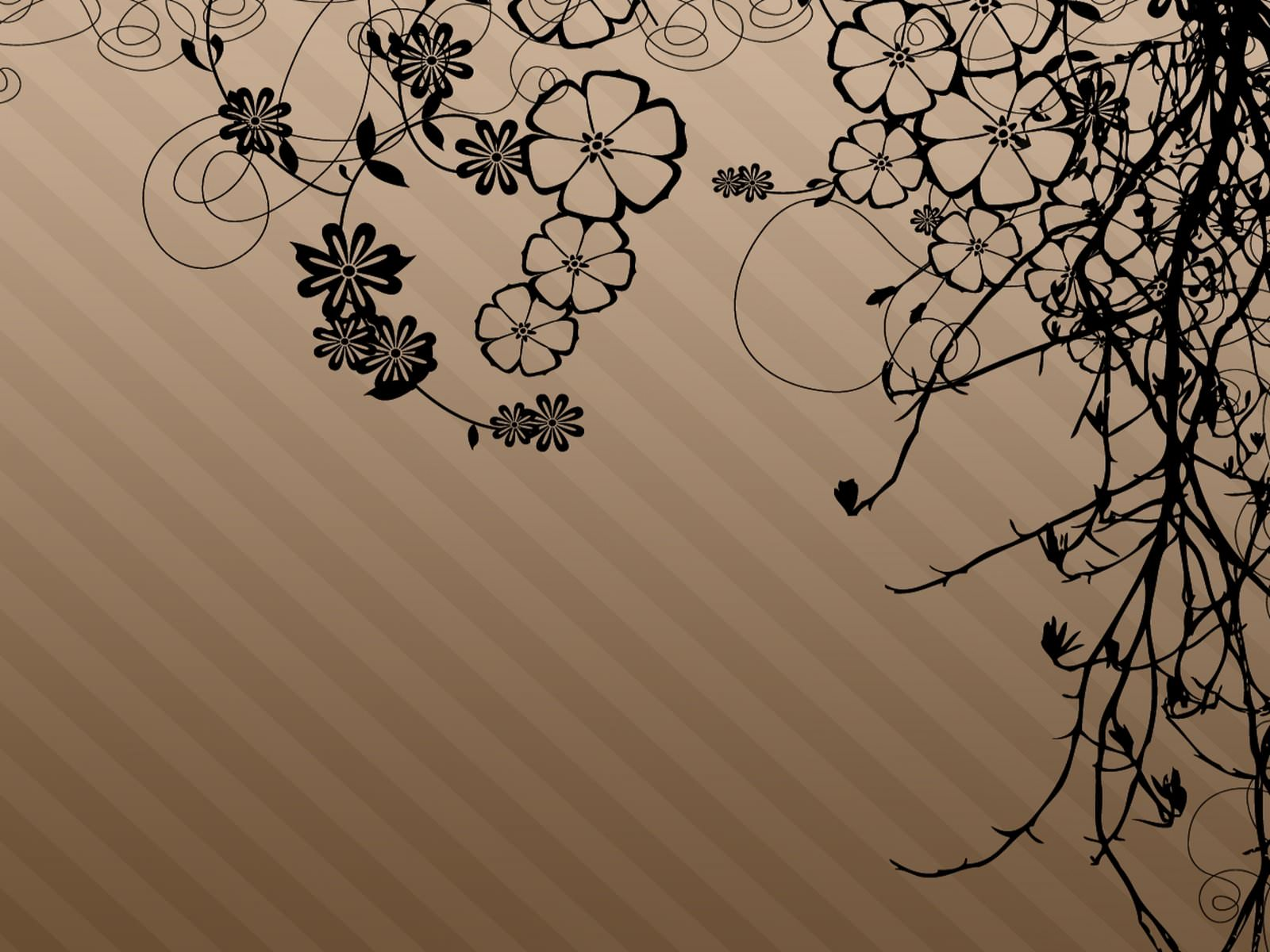 Beautiful Brown Flower Wallpaper