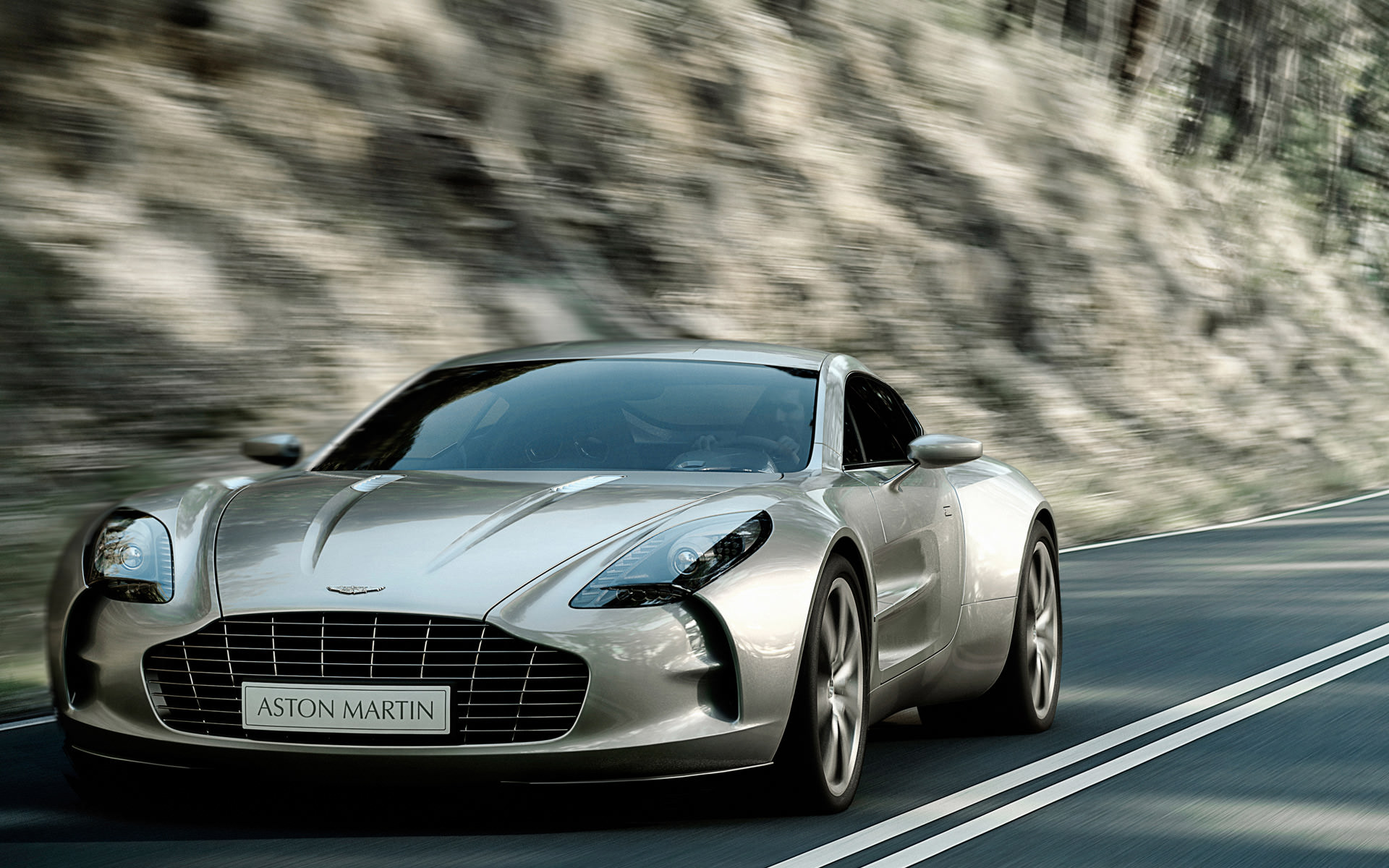 Aston Martin Front View Background