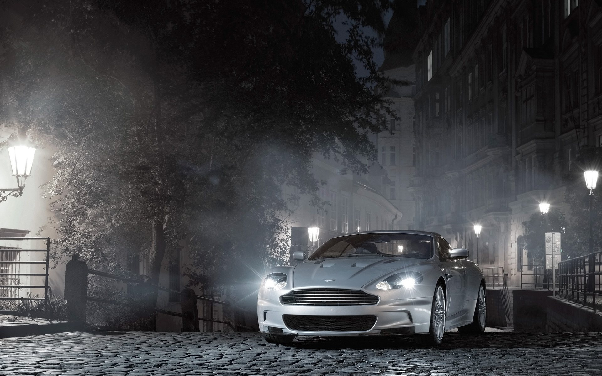Aston Martin Night Background