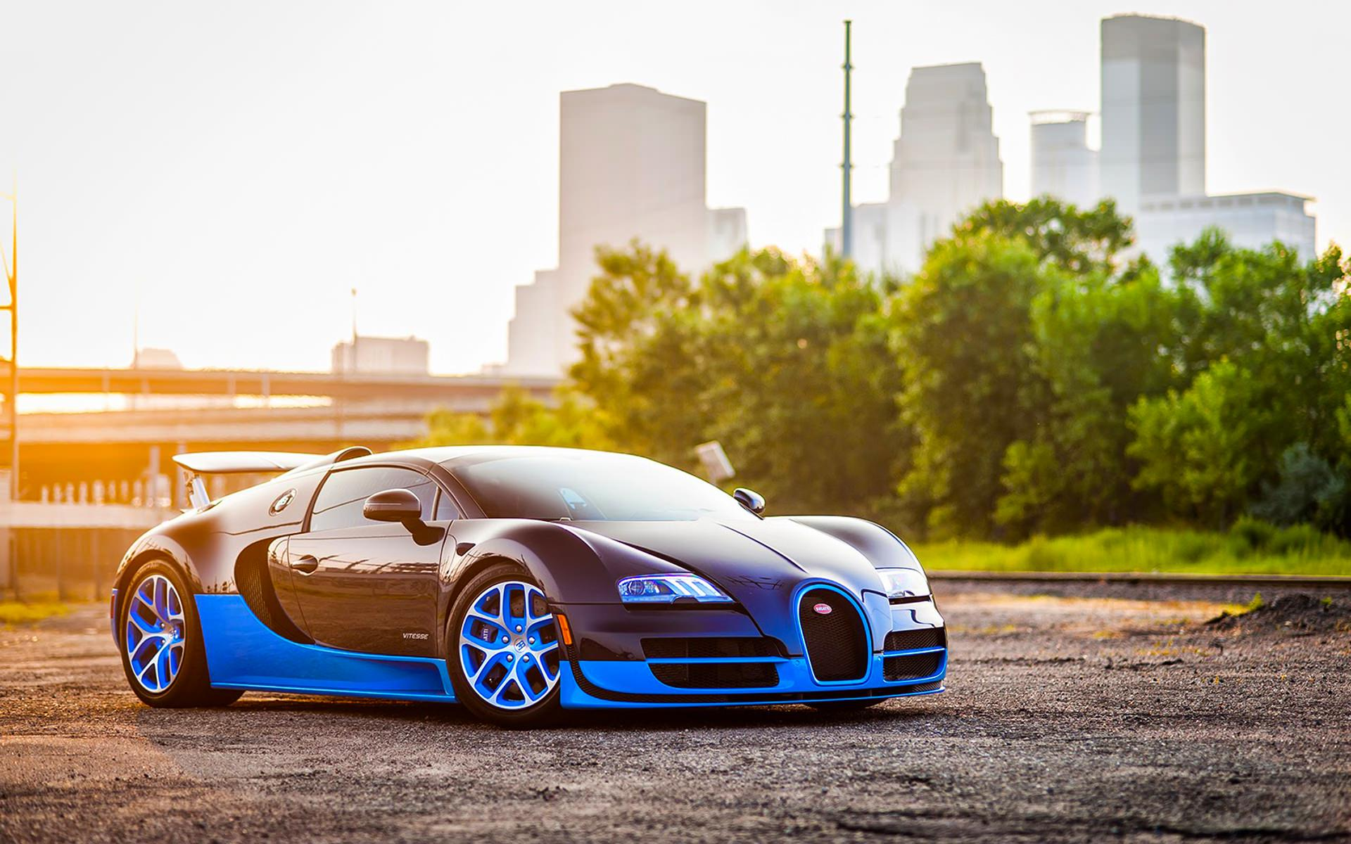 Blue Bugatti Wallpaper