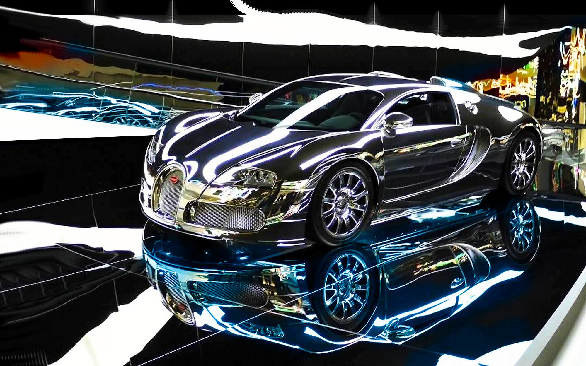 Bugatti Veyron Car Background
